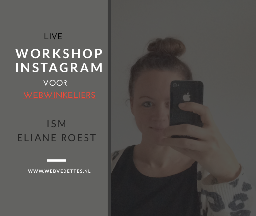 live workshop instagram web vedettes eliane roest