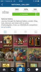 10 grootste musea instagram - national gallery